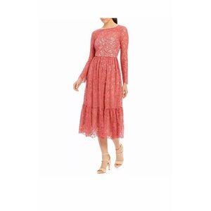 Adrianna Papell Lace Midi Dress Long